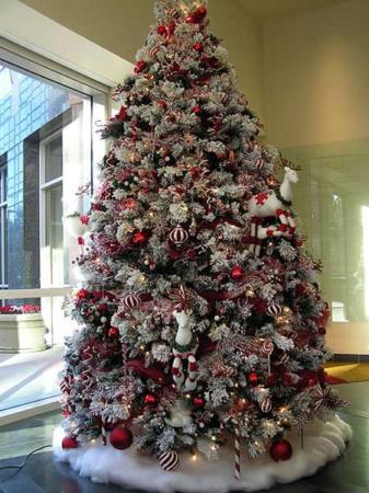 image ایده های جالب و جدید برای تزیین درخت کریسمس