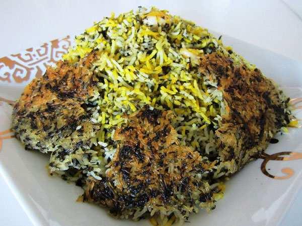 عکس, آموزش پخت سبزی پلوی شب عید مخصوص گیاهخواران