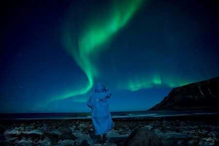 image تصویری زیبا از شفق قطبی در شمال نروژ
