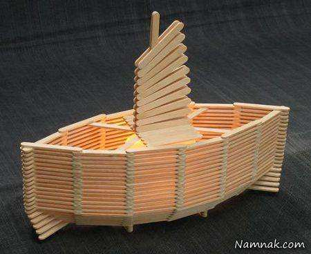 image کاردستی های جالبی که می توان با چوب بستنی ساخت