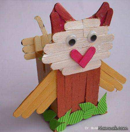 image, کاردستی های جالبی که میتوان با چوب بستنی ساخت