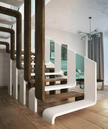 عکس, خلاقانه ترین و شیک ترین مدل نرده راه پله برای خانه دوبلکس