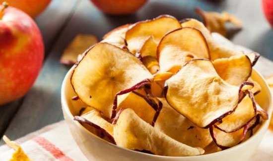 image آموزش درست کردن چیپس سیب برای بچه ها