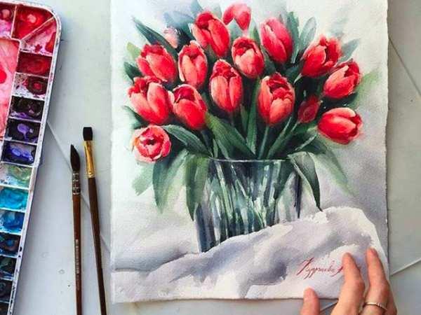 image, نقاشی های زیبای کشیده شده با آبرنگ