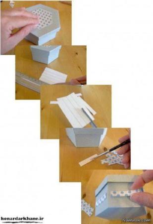 عکس, آموزش تصویری ساخت جعبه شیک برای کادو