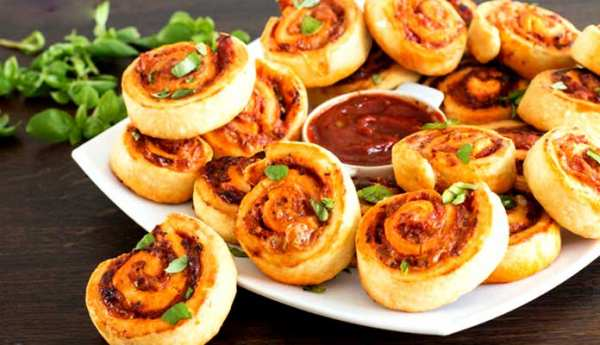 image, آموزش درست کردن پیتزاهای لقمه ای برای بچه ها