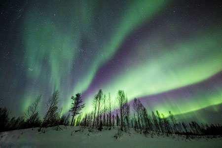 image تصویری از زیبایی های آسمان و نورشمالگان در فنلاند