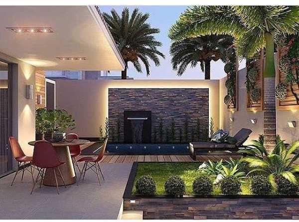 image ایده طراحی و ساخت حیاط کوچک مدرن با استخر