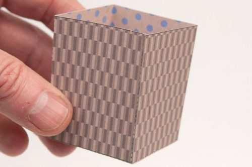 image آموزش تصویری ساخت جعبه کادوی ساده