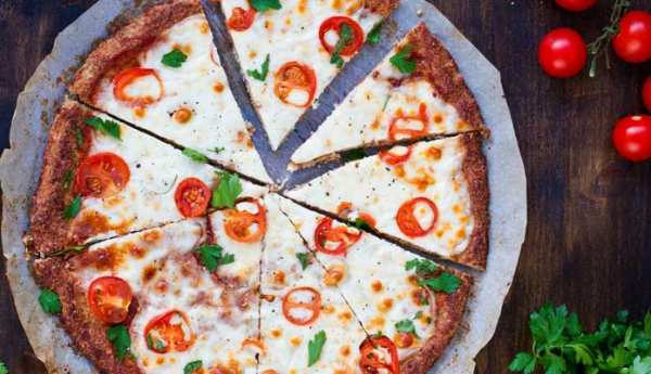 image آموزش طرز تهیه پیتزا مارگاریتا گیاهی و بدون گوشت