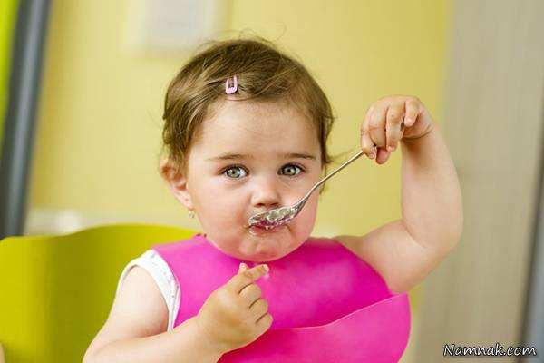 image چه خوراکی هایی را نباید به کودکان نه ماهه داد