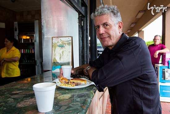 image آنتونی بوردین مجری برنامه غذاهای مناطق مختلف جهان
