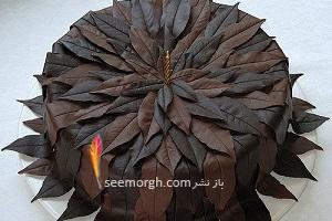 image آموزش حرفه ای درست کردن شکلات شکل برگ درختان