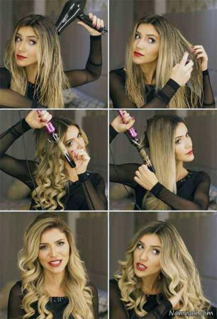 image ترفند سریع فر کردن موهای بلند با بابلیس
