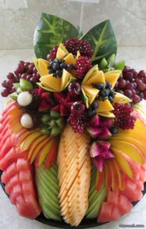 image شیک ترین مدل های تزیین ظرف میوه برای مهمانی
