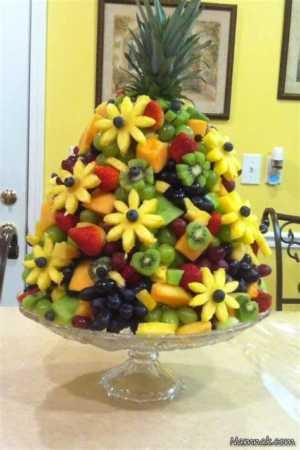 عکس, شیک ترین مدل های تزیین ظرف میوه برای مهمانی