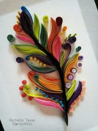 image تصاویر زیبا از طرح های هنری ساخته شده با نوار مقوایی