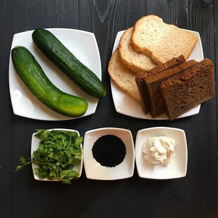 عکس, آموزش درست کردن فینگرفود عصرانه خیار و پنیر
