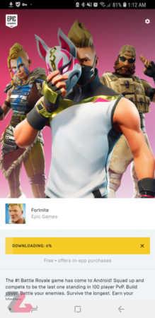 عکس, نحوه نصب و فعالسازی بازی Fortnite در گوشی اندروید