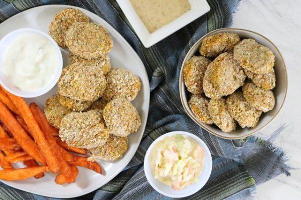 عکس, آموزش پخت غذای خوشمزه سالم و گیاهی ناگت سبزیجات