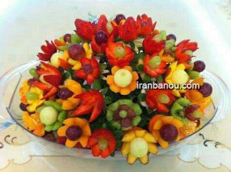image ایده های جالب برای تزیین میوه های شب یلدا