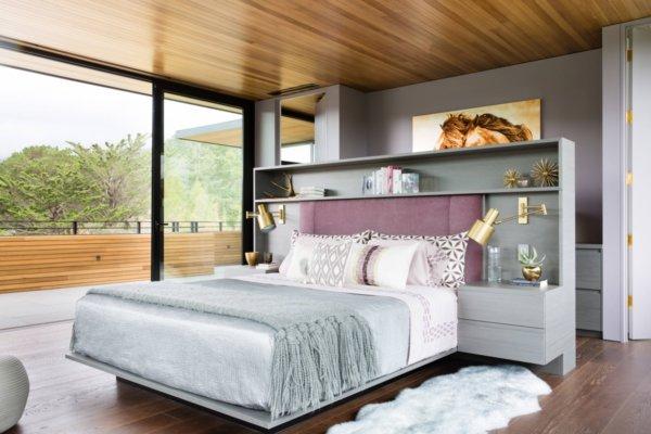 image ایده های جدید و شیک طراحی اتاق خواب با رنگ بنفش