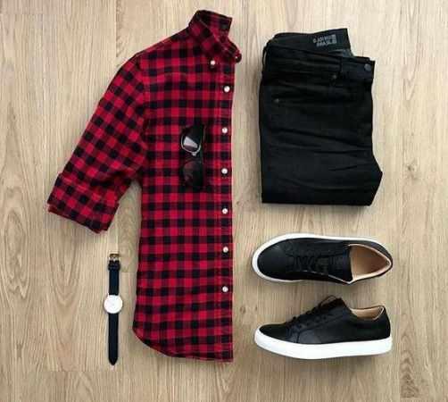 image آموزش تصویری ست کردن پیراهن مردانه با شلوار و کفش