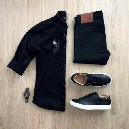 عکس, آموزش تصویری ست کردن پیراهن مردانه با شلوار و کفش