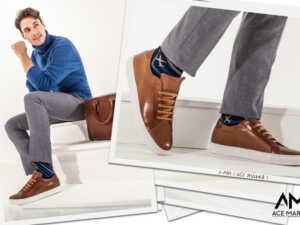 image چطور کفش کتانی را با کت و شلوار ست کنید