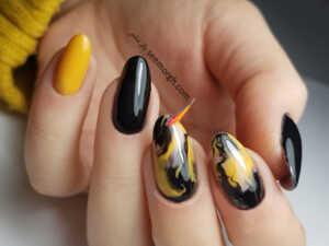 image ایده های شیک و جدید طراحی ناخن با رنگ زرد